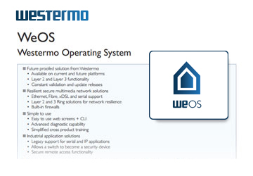 WeOS datasheet illustration.