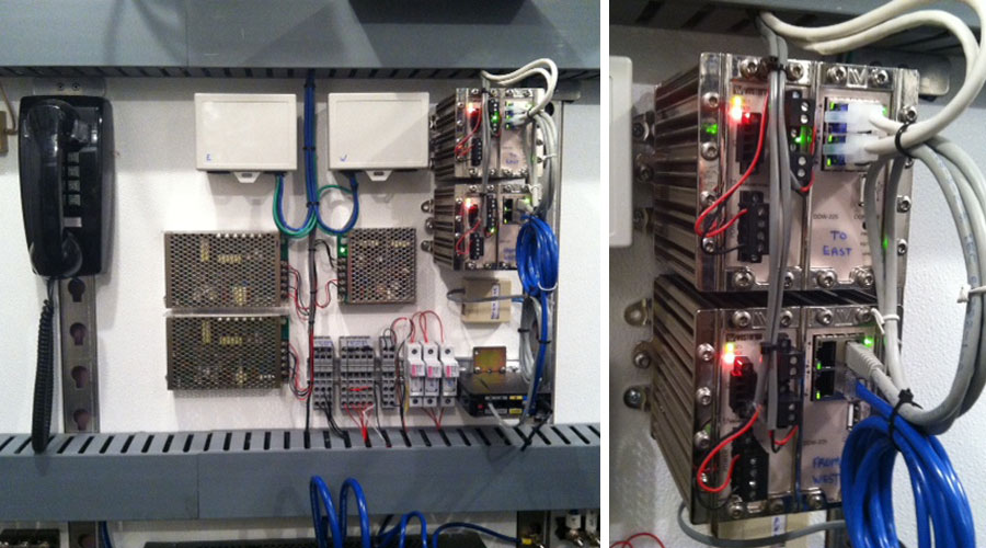 Westermo Ethernet line extenders in MBCR wayside system